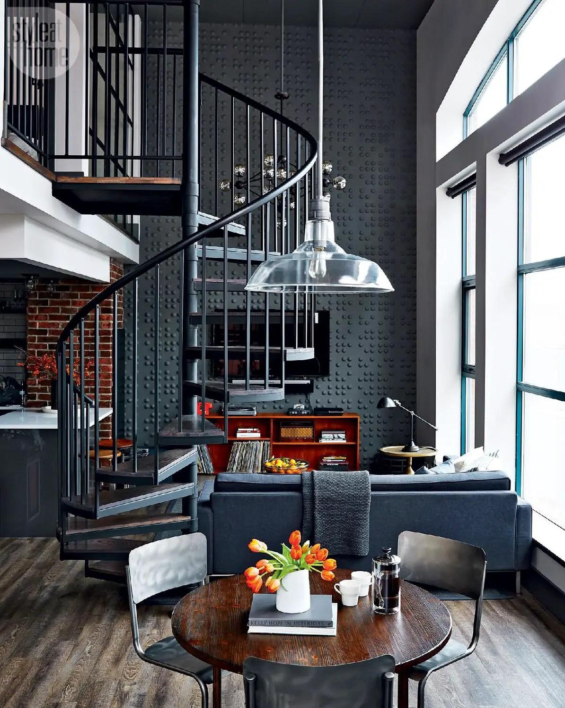 un loft industriel au look vintage toronto planete deco a homes world. Black Bedroom Furniture Sets. Home Design Ideas