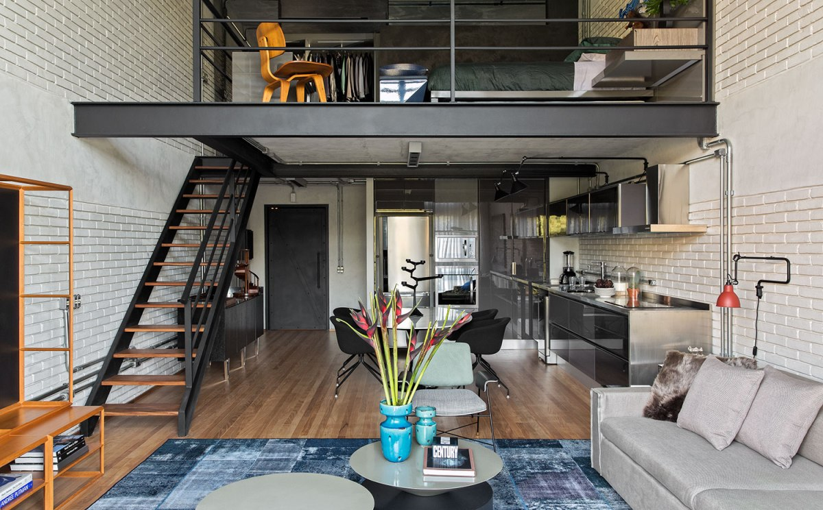 Un loft au design industriel au br sil planete deco a homes world - Deco loft industriele ...