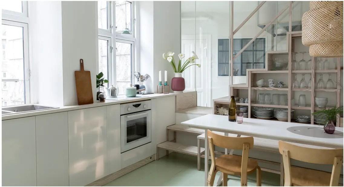 Un appartement danois restructuré pour une famille