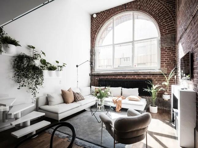 Un appartement suédois de style loft