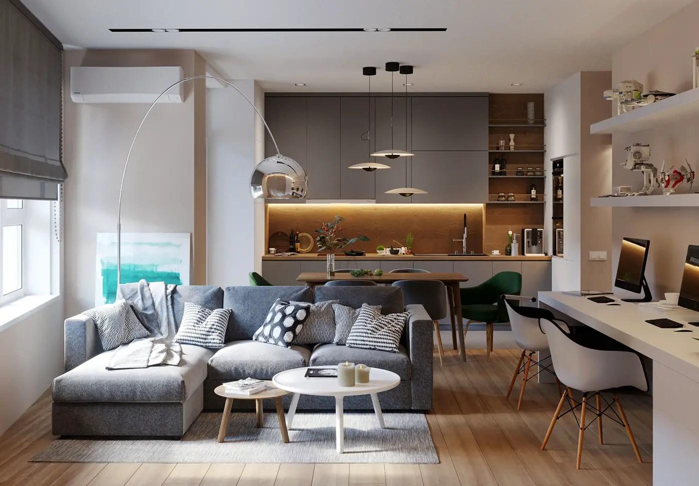Un appartement entre bois et pierre