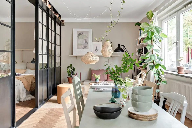 Une décoration fraîche pour un petit appartement suédois - PLANETE ...
