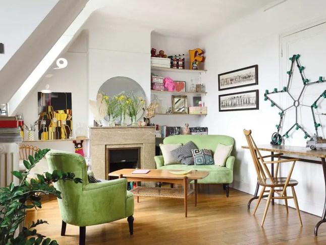 Un studio parisien au design intérieur vintage