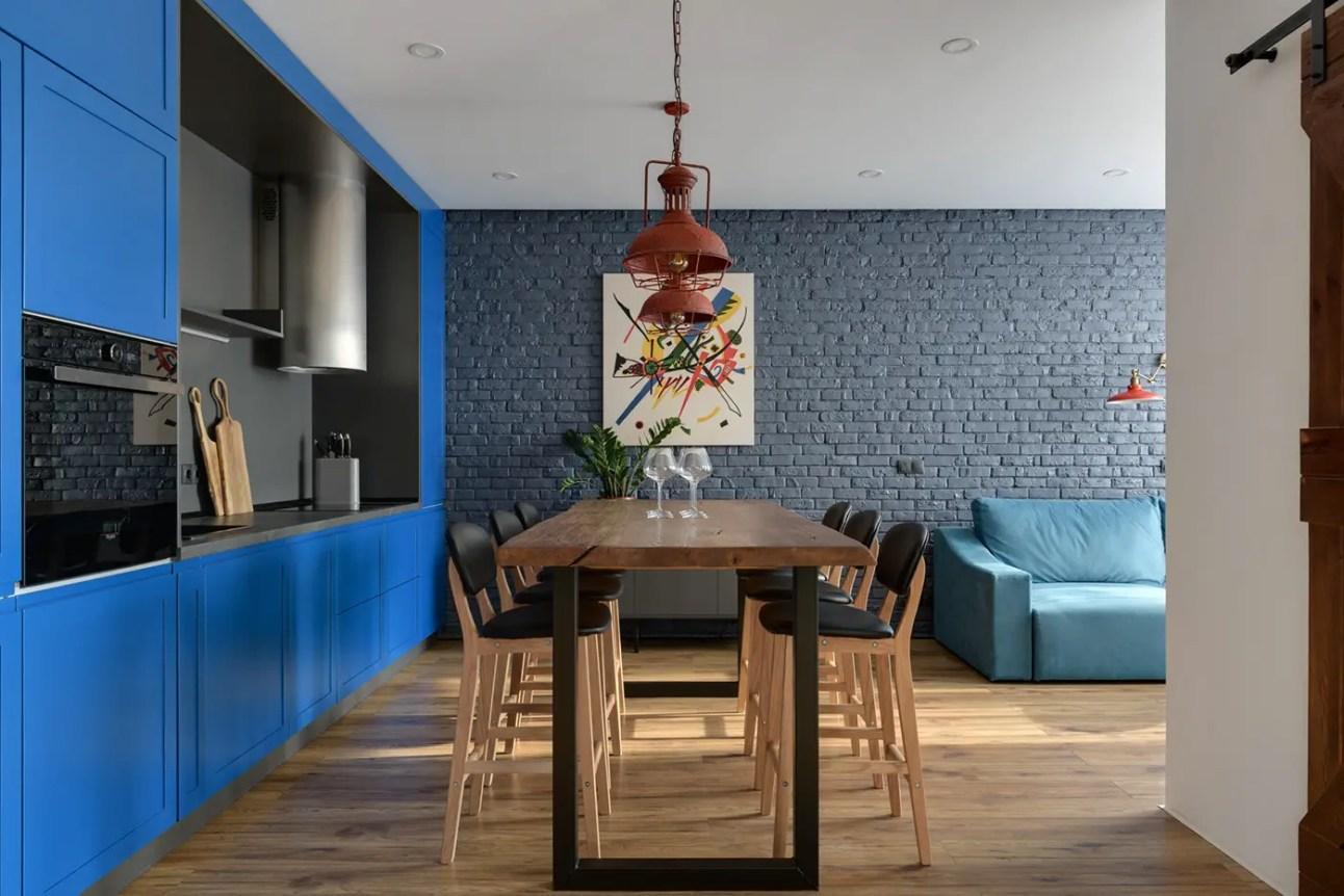 Un appartement en bleu à Kiev