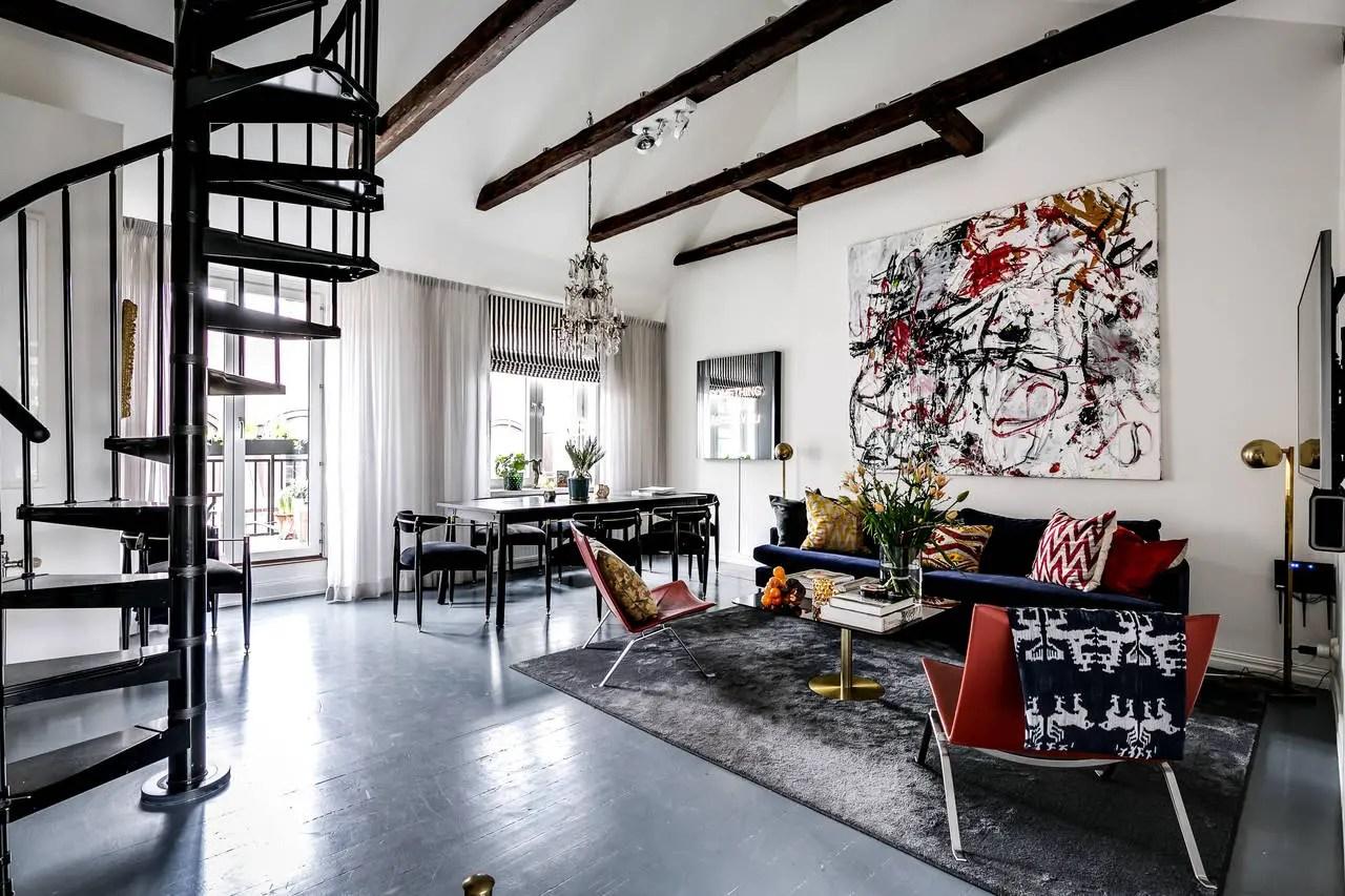 Un appartement design d'architecte sous les toits