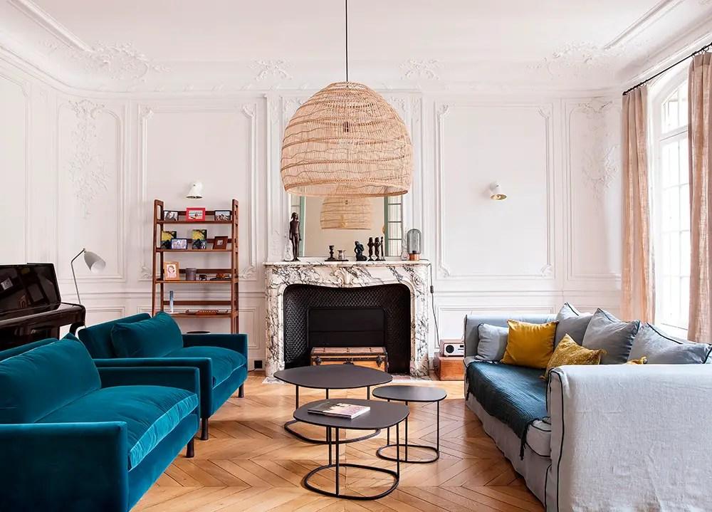 Un appartement haussmannien à Paris à la décoration contemporaine
