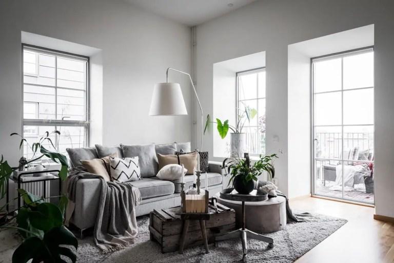 Plantas en un apartamento nórdico