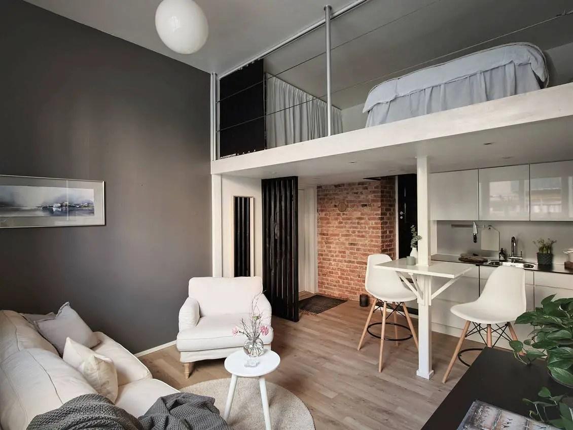 Dans ce studio de 24m2 il ne manque rien, même pas une chambre séparée !