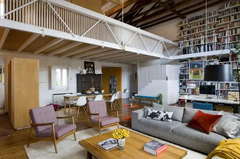 Ce loft familial était un ancien atelier de peinture