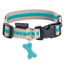 collier pour chien arlequin beige bobby france