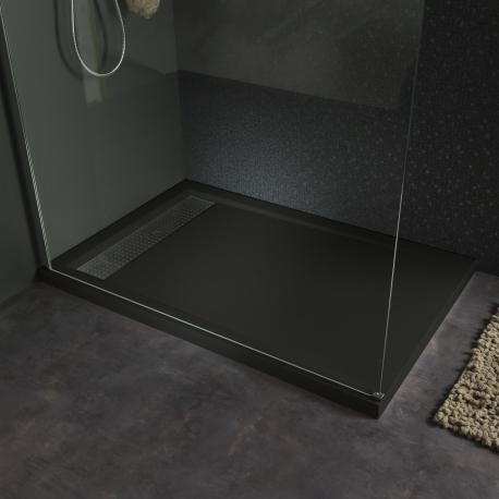 receveur extra plat a poser moderne 80x120 gris 523029