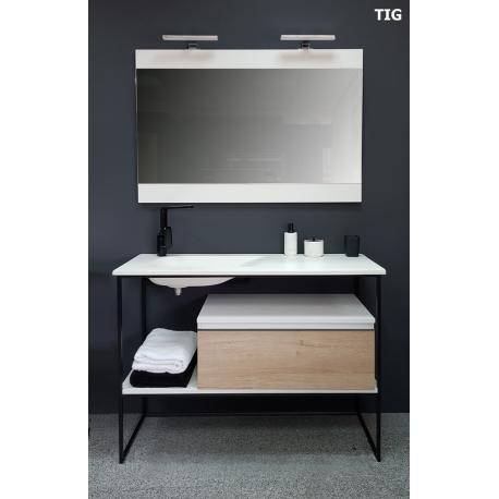 meuble de salle de bain style industriel 120 cm