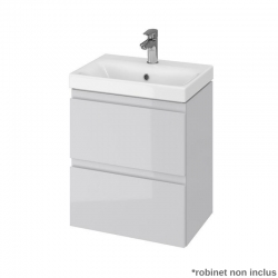 Meuble Salle De Bain Bleu Marine 60 Cm A Suspendre Simple Vasque
