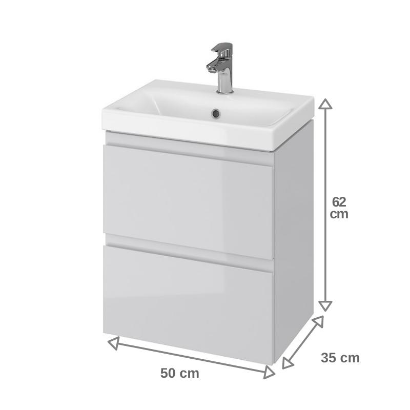 Vente Meuble Salle De Bain 50 Cm Faible Profondeur 37 5cm Gris