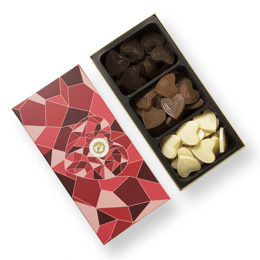 Mixed Chocolate Hearts Belgian Chocolates