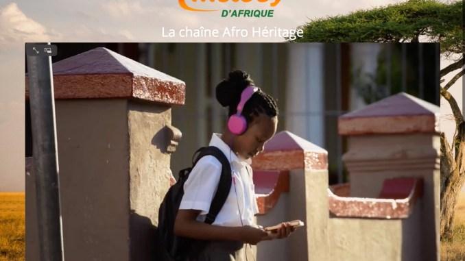 Page d'accueil du site internet Melody d'Afrique