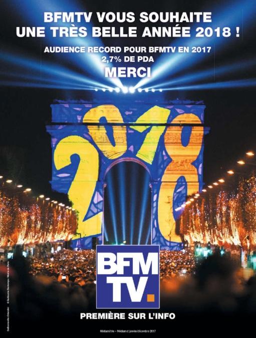 Campagne de presse BFM TV Janvier 2018