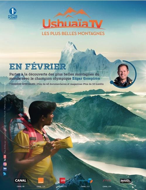 Campagne de publicité Ushuaïa TV Janvier 2018