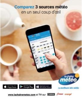 Campagne de publicité La Chaîne Météo Février 2018