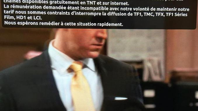 capture d'écran free/tf1