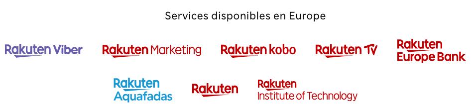 les marques du groupe Rakuten disponibles en Europe