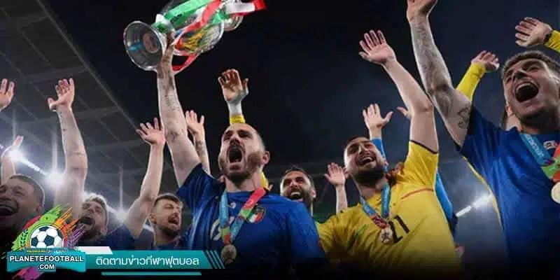 อิตาลี โชว์โหดซัดลูกโทษเอาชนะ สิงโตคำราม คว้ามแชมป์ยูโร 2021