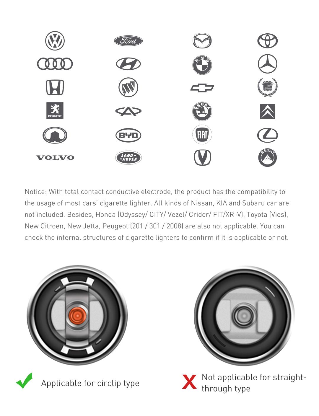 Roidmi 2S Chargeur voiture Allume-cigare Transmetteur FM