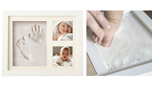 Cadre empreinte main et pied