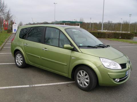 Scnic II Grand Scnic 20 DCI Jade  vert Goyave  Ajout Interieur  P0  Planete Renault