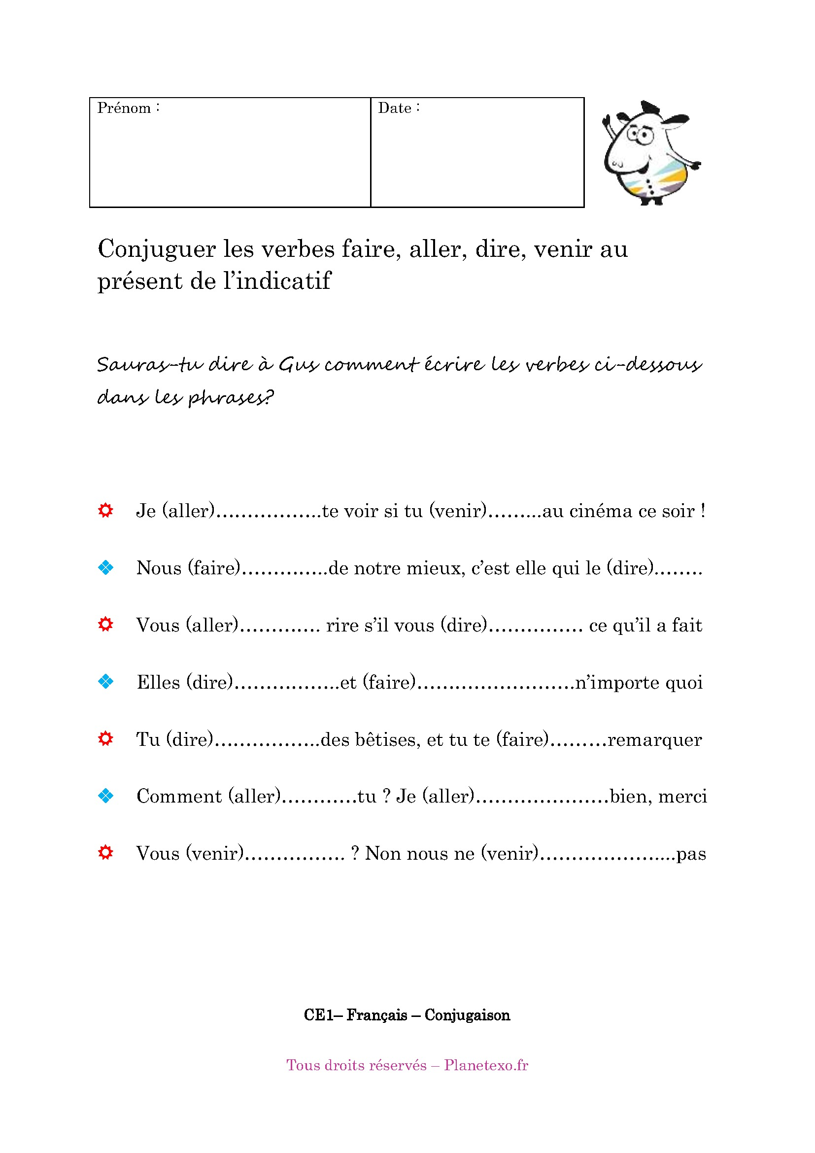 Worksheet Sur Le Verbe Faire Printable Worksheets And Activities For Teachers Parents Tutors And Homeschool Families