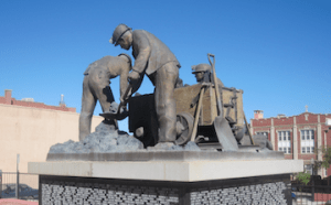 Coal Miner Statue in Colorado