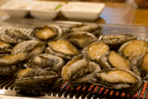 Abalone on the grill