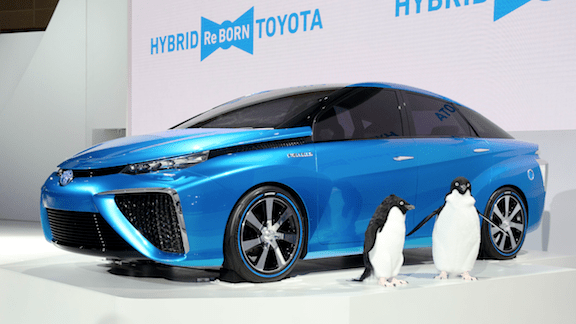 Toyota's Hydrogen Concept Car at the 2013 Tokyo Motor Show.