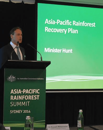 Australia Environmental Minister Greg Hunt