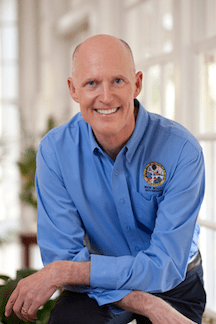"Incumbent Republican Governor Rick Scott has previously denied man-made climate change, though now prefers to answer ""I'm not a scientist"" when questioned on climate-related topics."