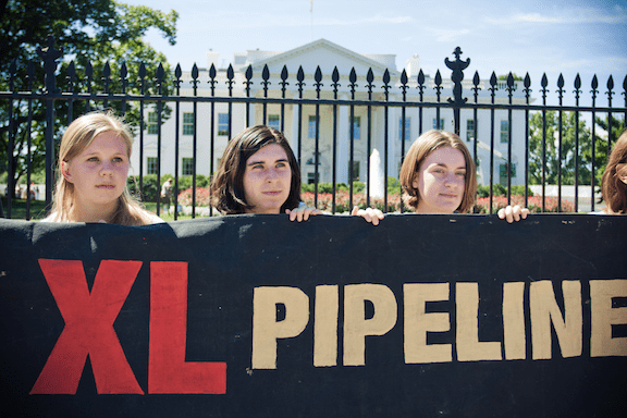 An August 2011 demonstration against the Keystone XL pipeline (Source: Creative Commons)