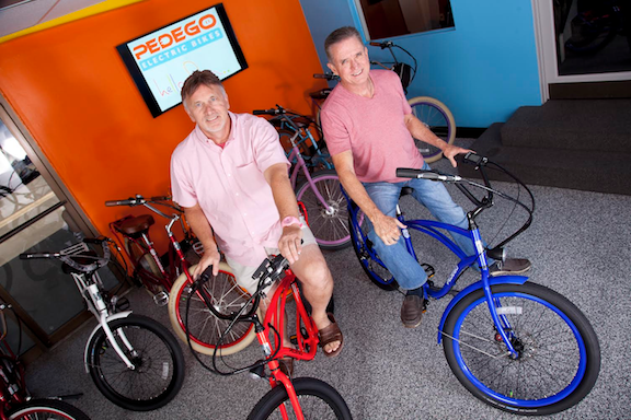 Pedego co-founders Don DiCostanzo and Terry Sherry (Image: Pedego)