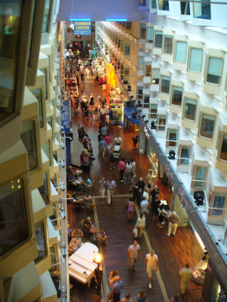 Interior view of the MS Silja Symphony, a Helsinki-Stockholm cruise (Source: Creative Commons).