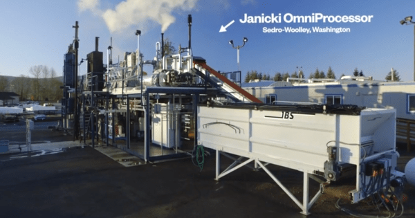 The OmniProcessor from Janicki Industries (Source: YouTube Screenshot)