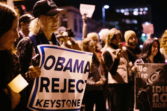 An anti-KXL rally in Santa Monica (Source: Flickr)