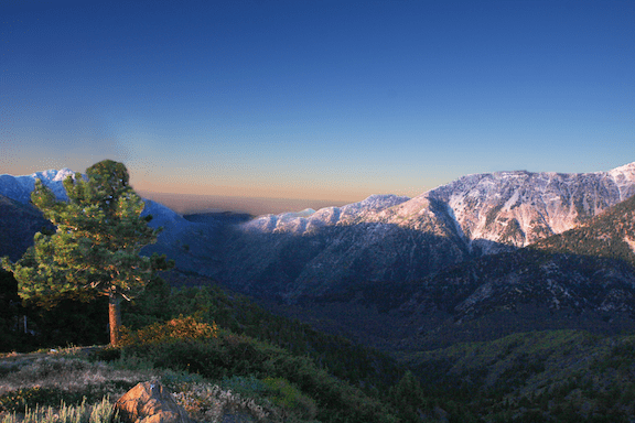 The San Gabriel Mountains. In October 2014, President Obama announced that the mountains would be granted national monument status. (Source: WikiMedia Commons)