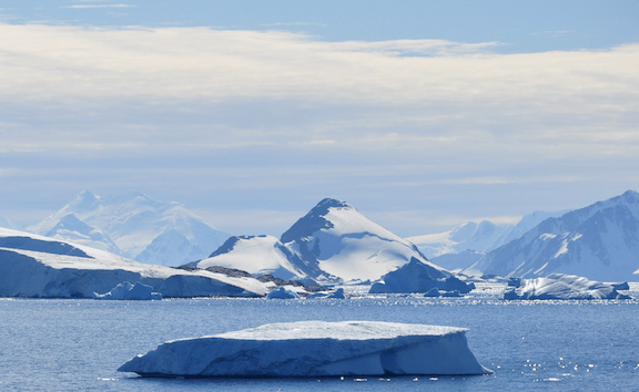 View from Rothera Research Station (on Adelaide Island) over Laubeuf Fjord, Antarctica. (Image Credit: Vincent van Zeijst)