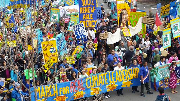 The People's Climate March in New York, 2014.