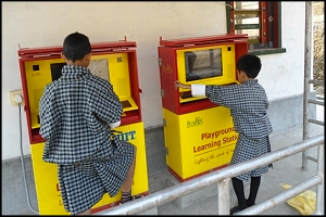 Playground Learning Stations in Eastern Bhutan. (Image: Hole-in-the-Wall Project)