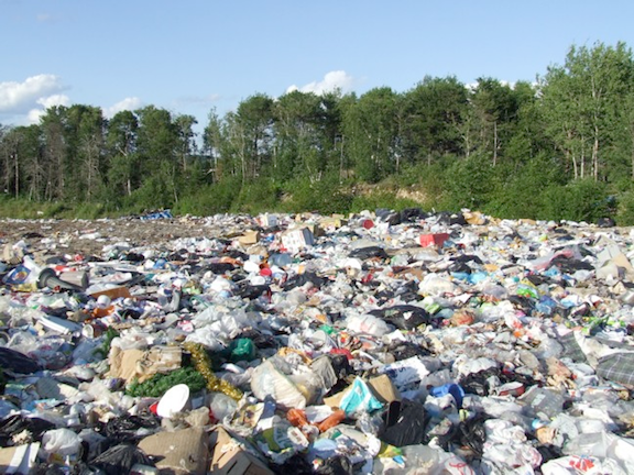 A section of a landfill located in Barclay, Ontario - one of several used by Dryden, Ontario. (Image Credit: Michelle Arseneault)