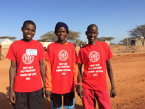 Ewaso Lions team members take top positions! From left to right: Letupukwa, Yesalai, and Moses. (Image: Ewaso Lions)