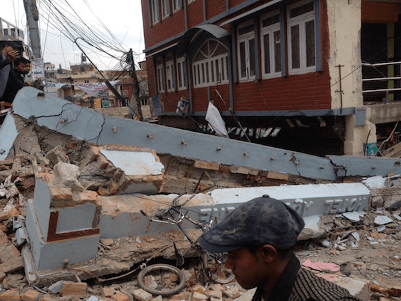 Damage from the Nepal earthquake. (Image Credit: Krish Dulal)