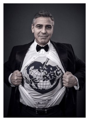 Actor George Clooney has joined the #SavetheArctic campaign. (Photo Credit: Andy Gotts MBE)
