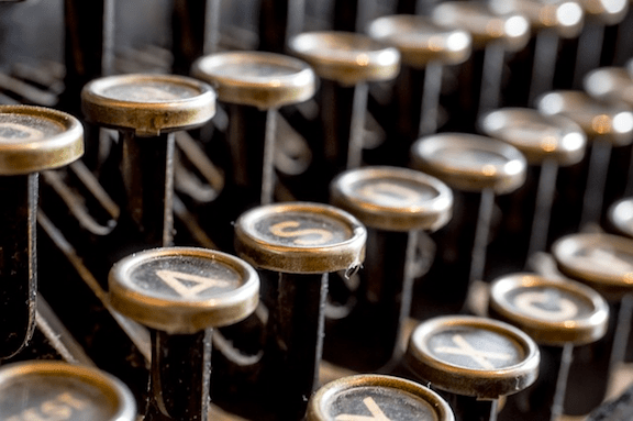 Typewriter keys. (Photo Credit: Pixabay)