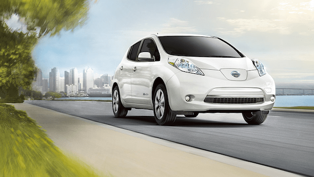 Nissan LEAF on the road. (Source: Nissan)